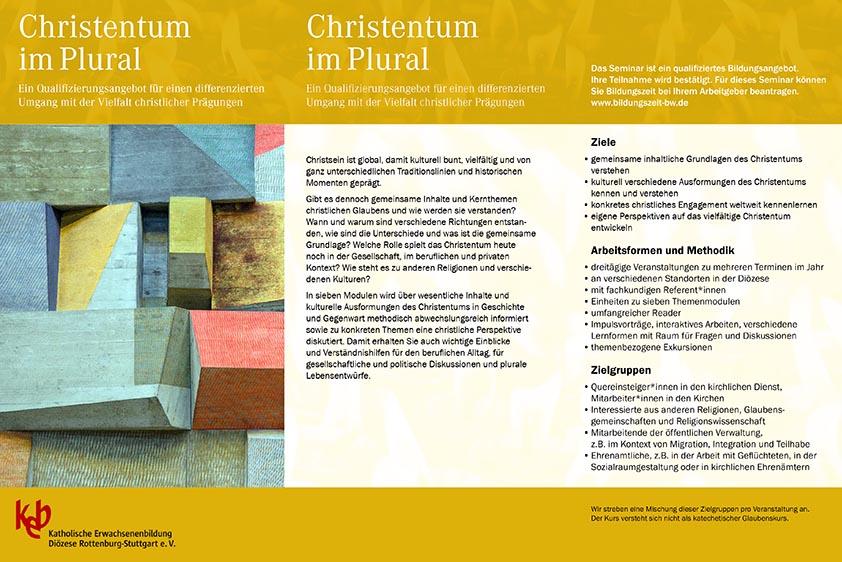 Christentum ist Vielfältig und bunt Seminar